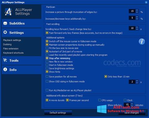 Screenshot ALLPlayer Windows 8.1
