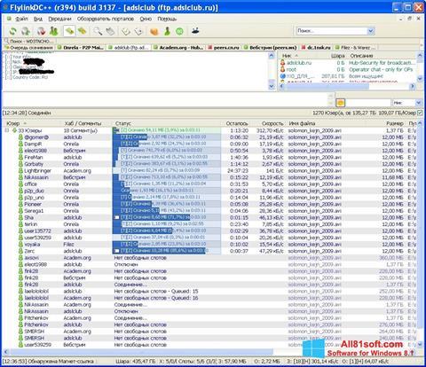 Screenshot FlylinkDC++ Windows 8.1