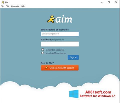 Screenshot AOL Instant Messenger Windows 8.1