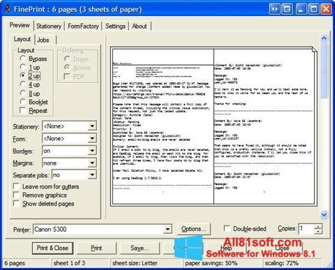 Screenshot FinePrint Windows 8.1