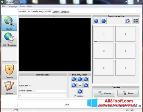 Screenshot webcamXP Windows 8.1