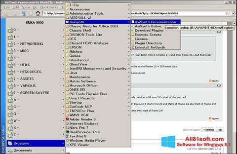 Screenshot AviSynth Windows 8.1