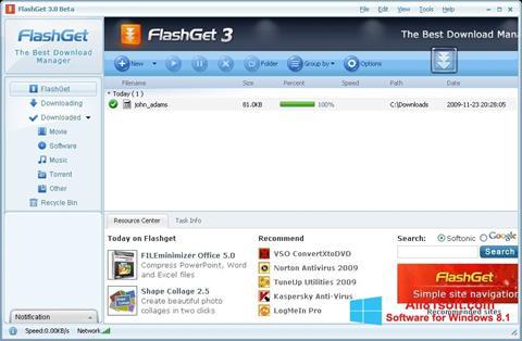 Screenshot FlashGet Windows 8.1