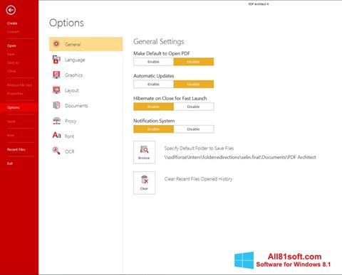 Screenshot PDF Architect Windows 8.1