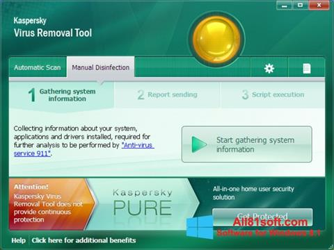 Screenshot Kaspersky Virus Removal Tool Windows 8.1
