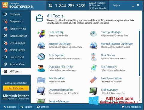 Screenshot Auslogics BoostSpeed Windows 8.1