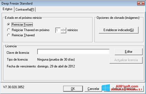 Screenshot Deep Freeze Windows 8.1
