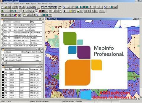 Screenshot MapInfo Professional Windows 8.1