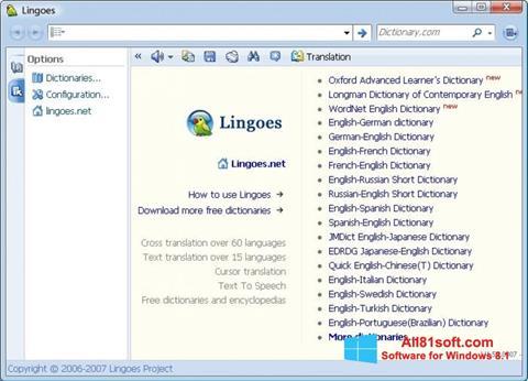 Screenshot Lingoes Windows 8.1