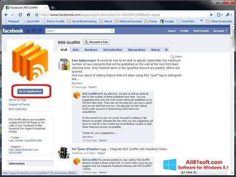 Screenshot Facebook Windows 8.1