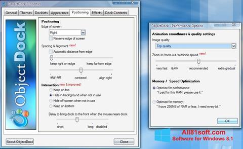 Screenshot ObjectDock Windows 8.1