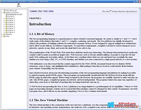 Screenshot Java Virtual Machine Windows 8.1