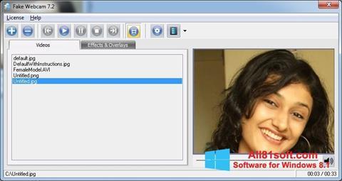 Screenshot Fake Webcam Windows 8.1