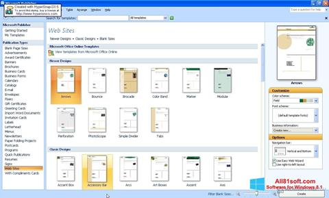 Screenshot Microsoft Publisher Windows 8.1