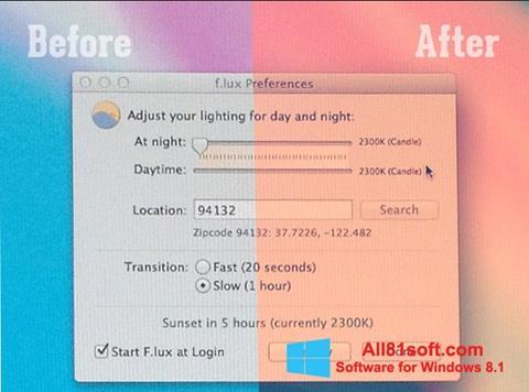 Screenshot F.lux Windows 8.1