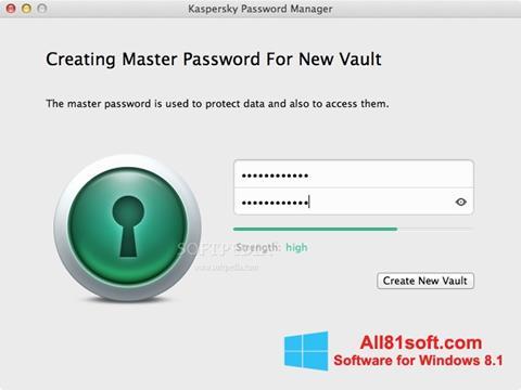 Screenshot Kaspersky Password Manager Windows 8.1