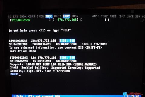 Screenshot MHDD Windows 8.1