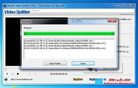 Screenshot Boilsoft Video Splitter Windows 8.1