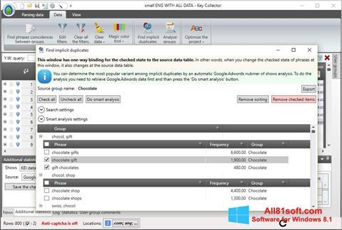 Screenshot Key Collector Windows 8.1