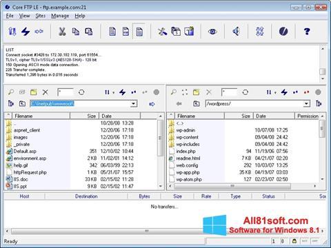 Screenshot Core FTP Windows 8.1