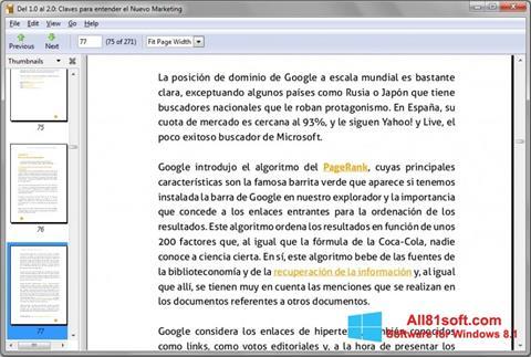 Screenshot Evince Windows 8.1