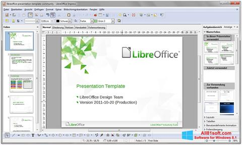 Screenshot LibreOffice Windows 8.1
