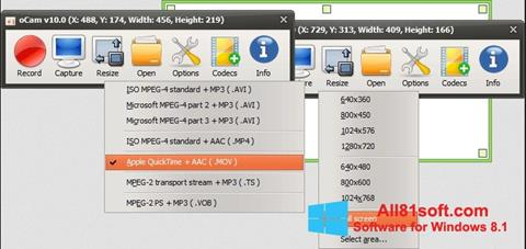 Screenshot oCam Screen Recorder Windows 8.1