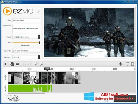 Screenshot Ezvid Windows 8.1