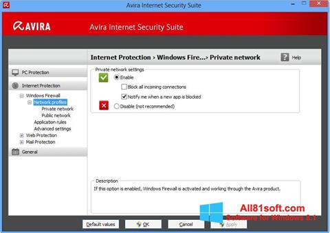 Screenshot Avira Internet Security Windows 8.1