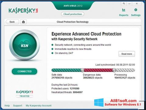 Screenshot Kaspersky Windows 8.1