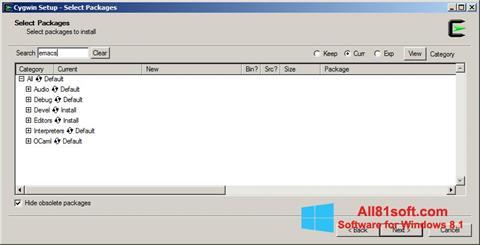 Screenshot Cygwin Windows 8.1
