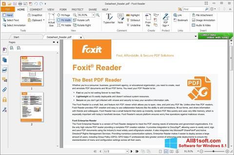 Screenshot Foxit Reader Windows 8.1