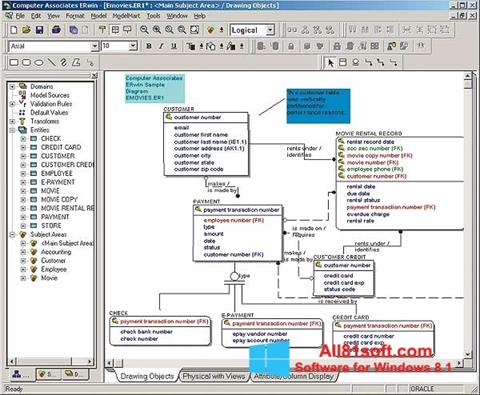 Screenshot ERWin Windows 8.1