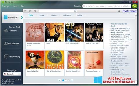 Screenshot MediaGet Windows 8.1