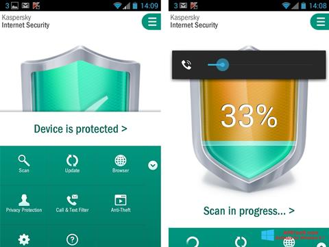 Screenshot Kaspersky Mobile Security Windows 8.1