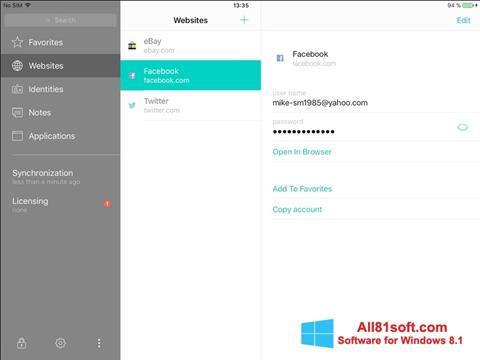 Screenshot Kaspersky Total Security Windows 8.1