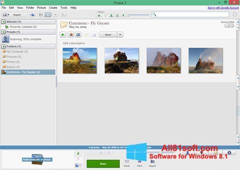 Screenshot Picasa Windows 8.1