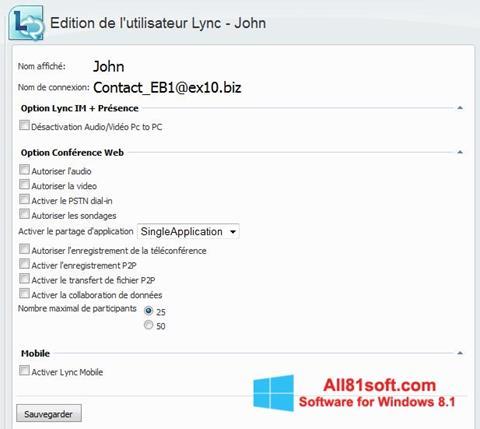 Screenshot Lync Windows 8.1