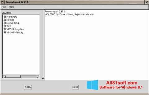 Screenshot PowerTweak Windows 8.1
