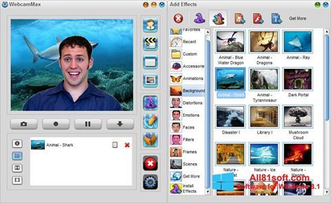 Screenshot WebcamMax Windows 8.1