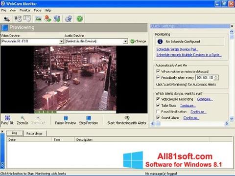 Screenshot WebCam Monitor Windows 8.1