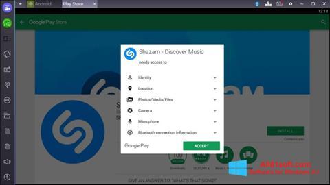 Screenshot Shazam Windows 8.1