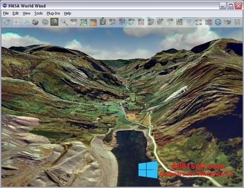 Screenshot NASA World Wind Windows 8.1