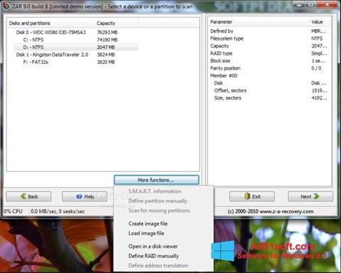 Screenshot Zero Assumption Recovery Windows 8.1
