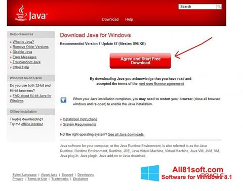 Screenshot Java Windows 8.1