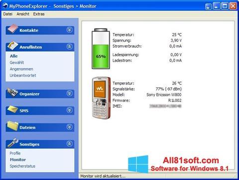 Screenshot MyPhoneExplorer Windows 8.1