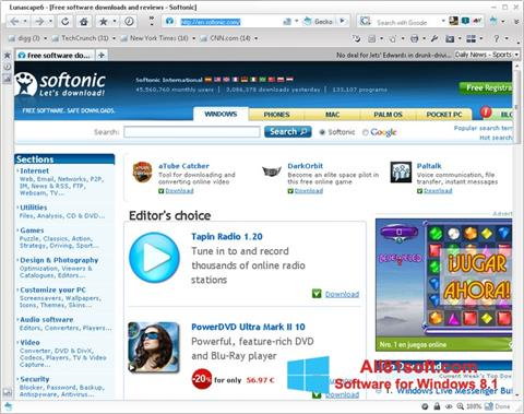 Screenshot Lunascape Windows 8.1