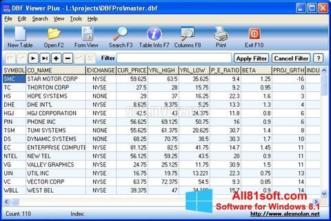 Screenshot DBF Viewer Windows 8.1