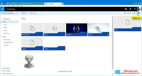 Screenshot OneDrive Windows 8.1