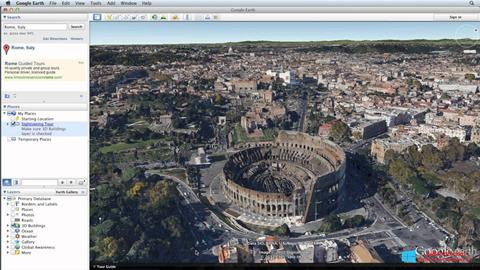 Screenshot Google Earth Windows 8.1